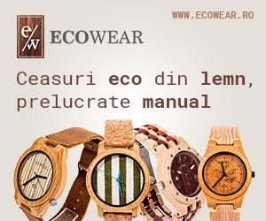 Ceasuri ECO, din lemn, prelucrate manual