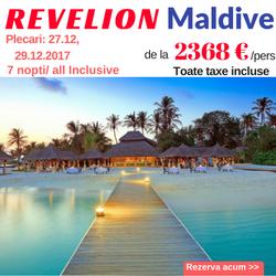 Revelion in Maldive -rezerva acum cel mai mic pret + toate taxele incluse