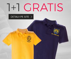 Tricouri pentru scoala copii 1+1 gratis